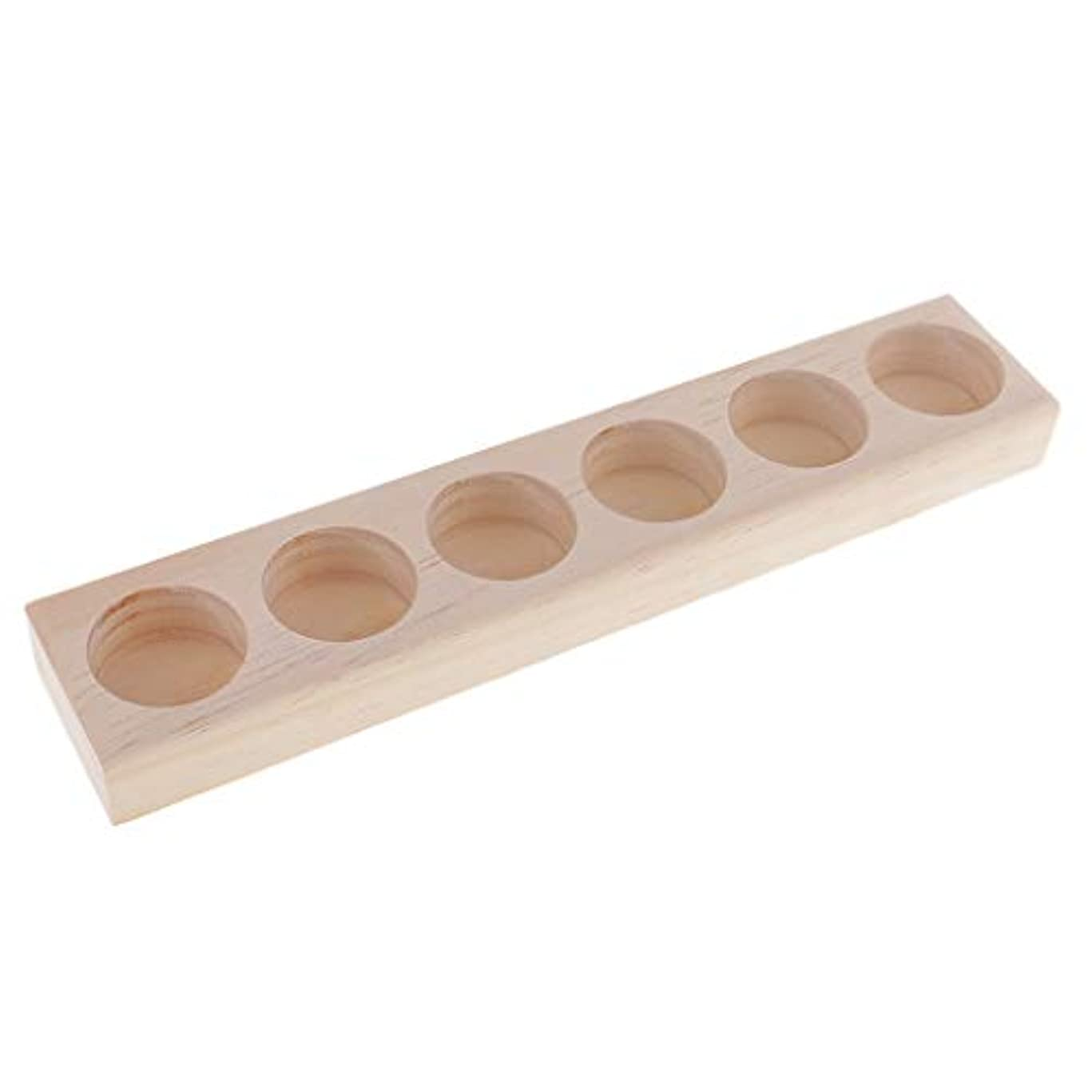 敷居暴露するリブFenteer エッセンシャルオイル 収納ラック 木製 精油 オーガナイザー ジュエリー 化粧品 収納用品