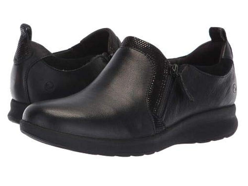軍団トロリー億Clarks(クラークス) レディース 女性用 シューズ 靴 スニーカー 運動靴 Un Adorn Zip - Black Leather/Suede Combination [並行輸入品]