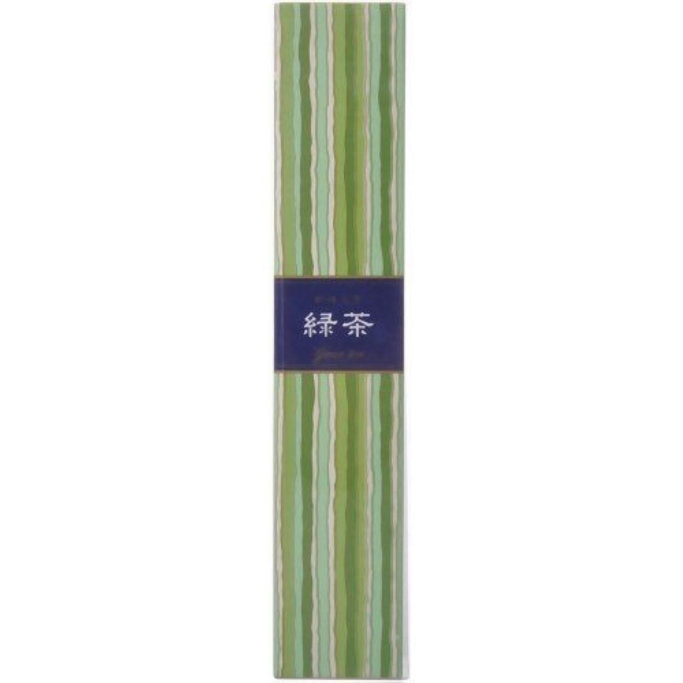 スリップシューズ瞑想する大洪水【セット品】かゆらぎ 緑茶 スティック40本入 香立付 ×3個