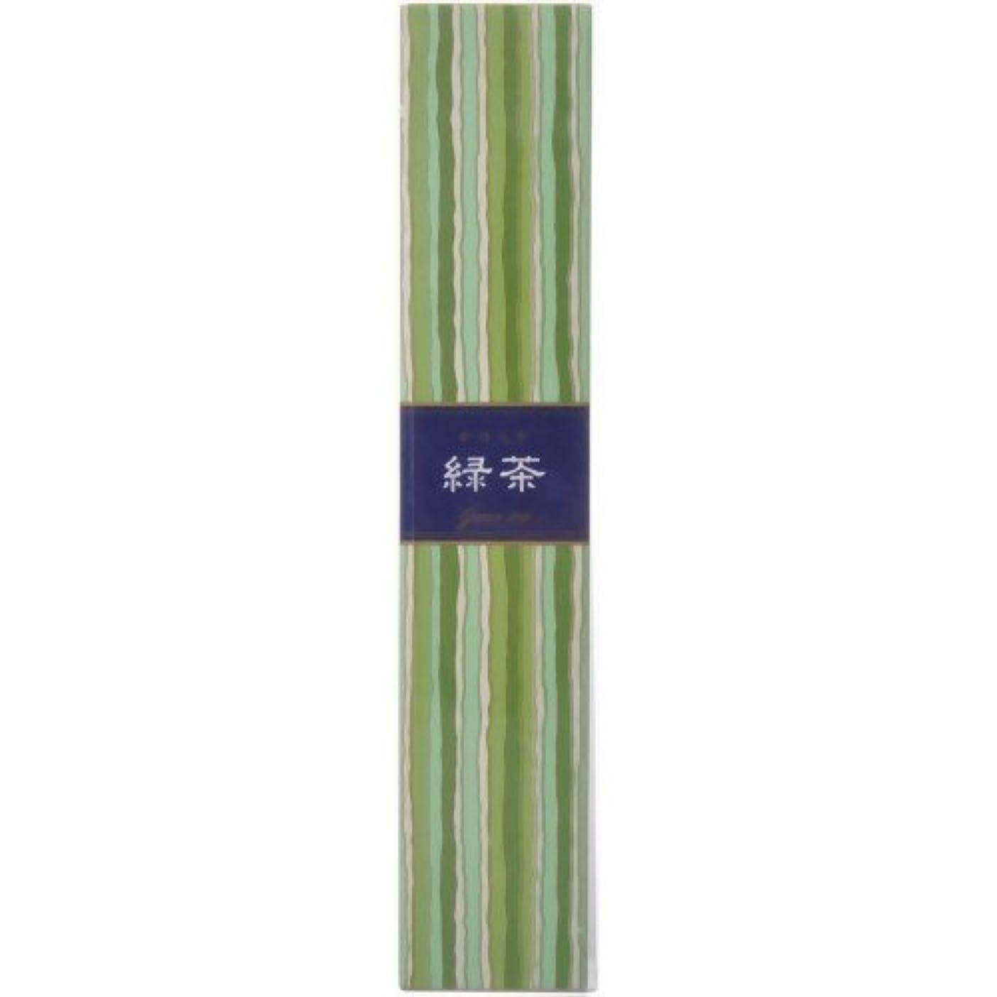 タイプライター結晶抗議【セット品】かゆらぎ 緑茶 スティック40本入 香立付 ×3個