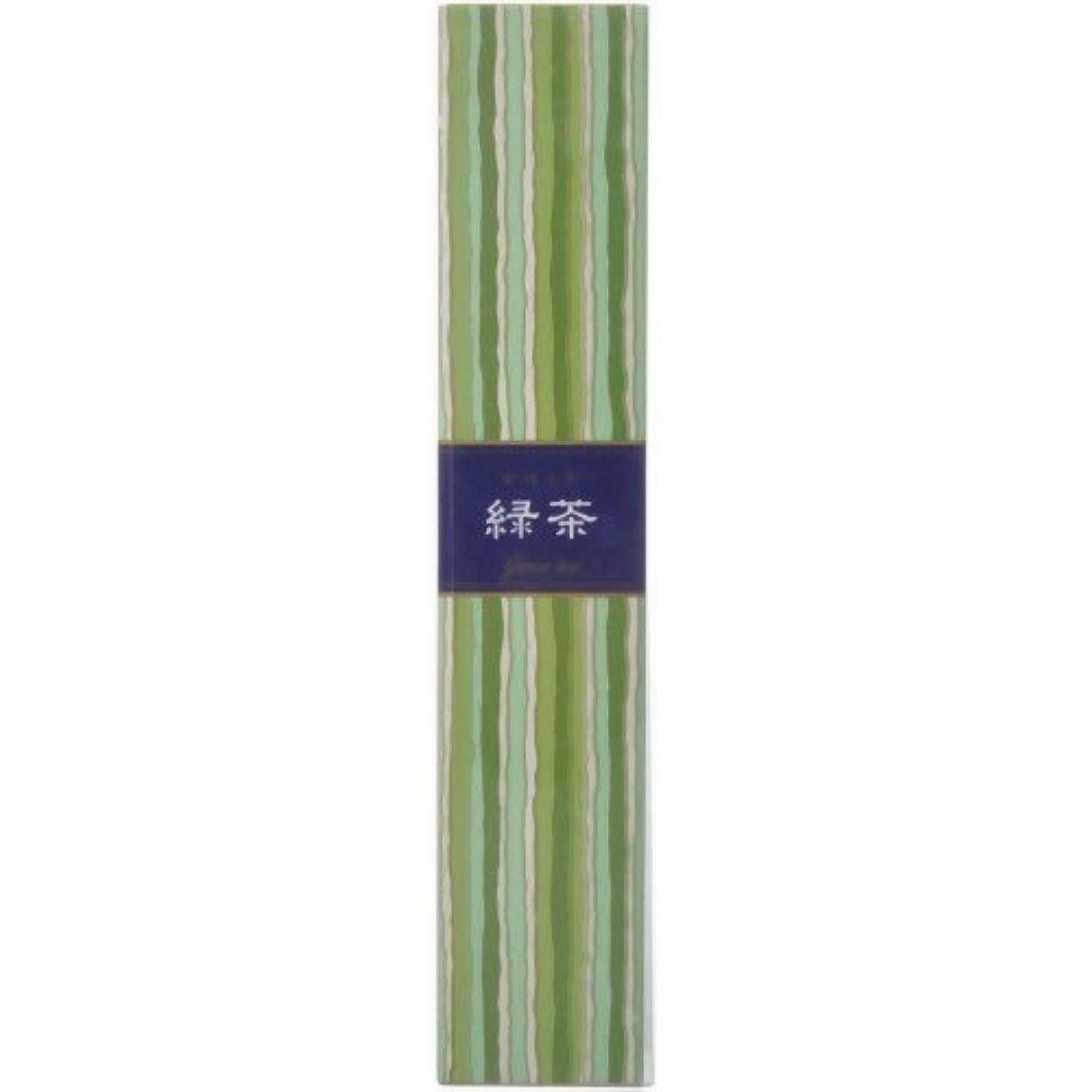無数の冷ややかなタイト【セット品】かゆらぎ 緑茶 スティック40本入 香立付 ×3個