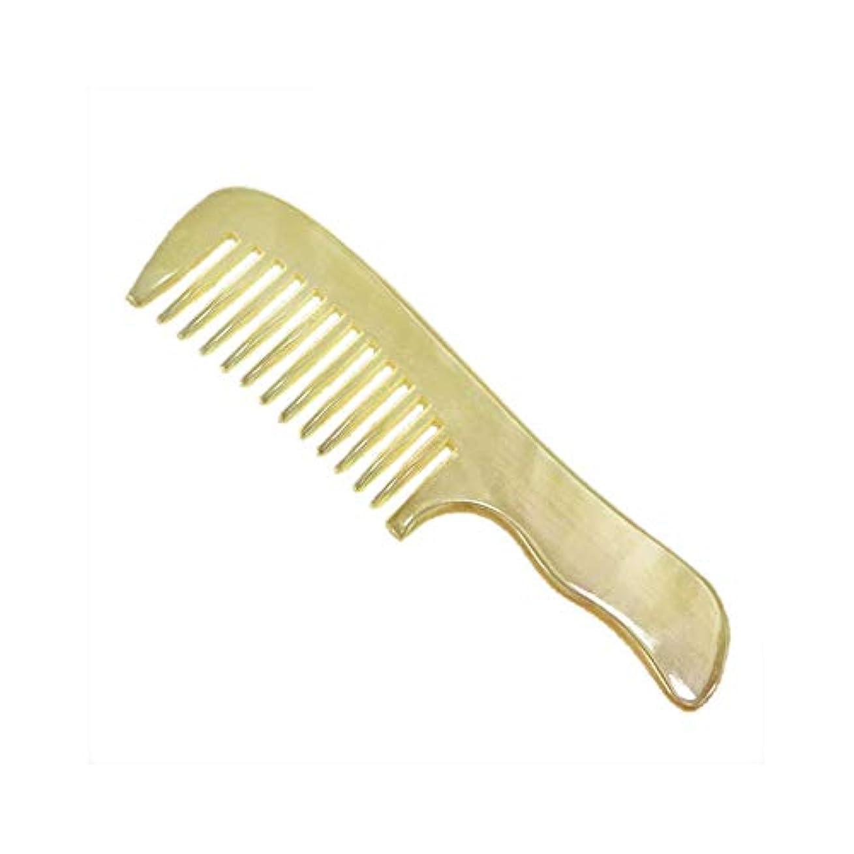 消費行方不明切断する新しい手作りの木製くしナチュラルワイド歯ホーンくしノースタティックないもつれ ヘアケア