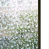 [ブロス]Bloss Cobblestone Embossed Stained Window Film Static Cling Film Etched Opaque Privacy Film for Home/Bathroom [並行輸入品]