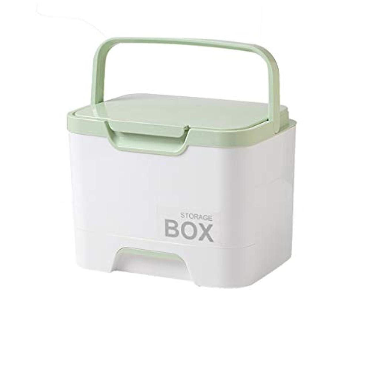 ビスケット適用済みバングラデシュ二層の救急箱は4色を使用して学校旅行の自動運転旅行のために適した薬剤の箱を任意で入れます SYFO (Color : Green)