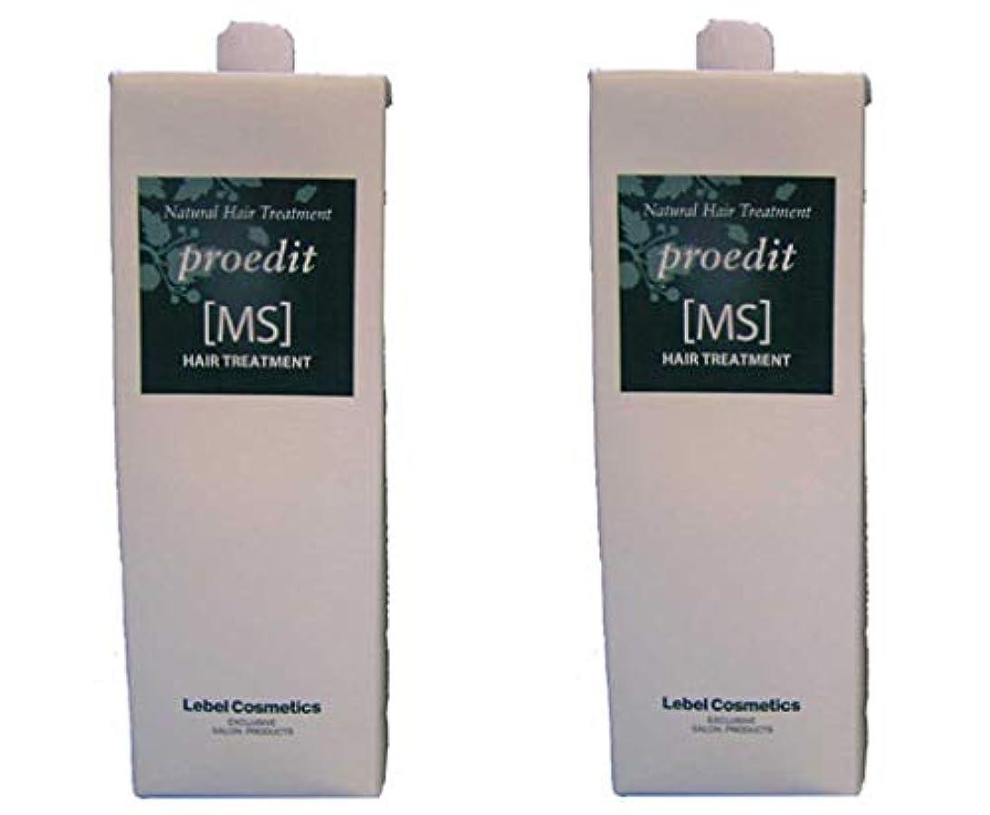 乱す石のファシズムルベル プロエディット トリートメントMS 1600ml ×2個 セット 業務用 詰め替え用 硬くてふくらむ髪を扱いやすくし、ダメージをケアしながら、 しっとり?やわらかに仕上げます LebeL proedit