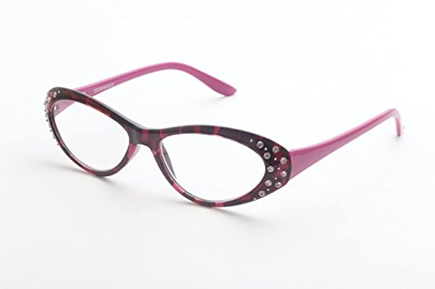 ズームマジック 老眼鏡 R-346-01 パープルラインストーン 度数:1.50