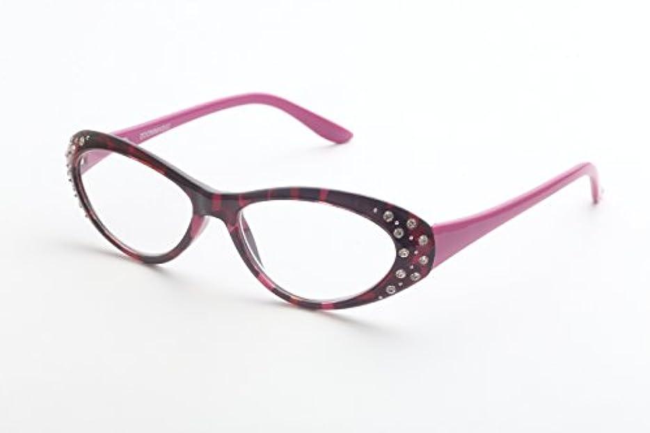 鋭くプロテスタント仕事に行くズームマジック 老眼鏡 R-346-01 パープルラインストーン 度数:1.50