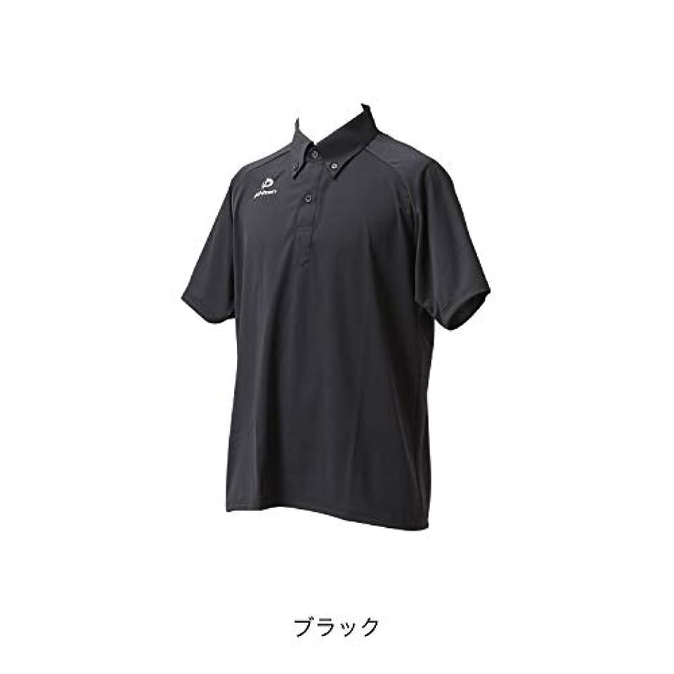 ポスターフェッチかなりのファイテン(phiten) ポロシャツ (OZ) ボタンダウン2 (半袖タイプ)ブラックMサイズ