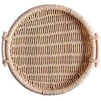 CXQ 日本手作りラタン織りバスケットクリエイティブなパンのバスケットピクニックバスケット