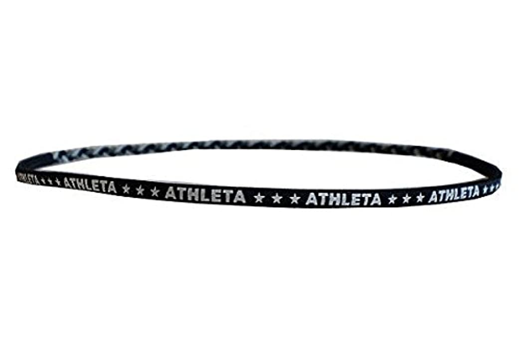 可決救急車クローゼットATHLETA(アスレタ)ヘアゴム 髪止めヘアバンド サッカー フットサル ヘアーアクセサリー ブラック SP-062 BLK F