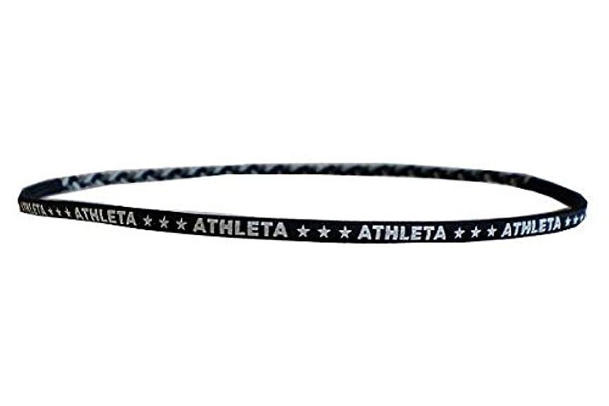 文明化するわずらわしい臭いATHLETA(アスレタ)ヘアゴム 髪止めヘアバンド サッカー フットサル ヘアーアクセサリー ブラック SP-062 BLK F