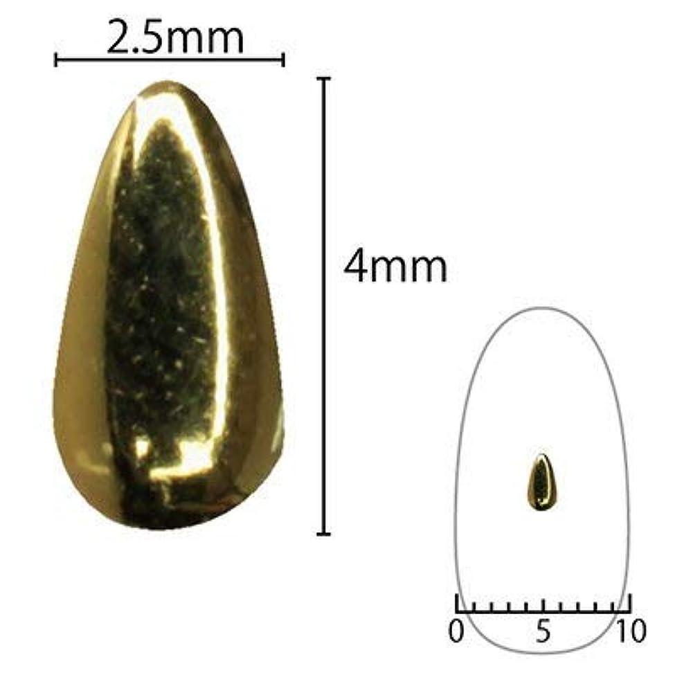 SHAREYDVA スタッズ ドロップ 4mm×2.5mm 30P ゴールド