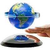 知的なインテリア☆ 浮遊地球儀! お子様の情操教育に最適! 浮く地球儀14cm(Blue)