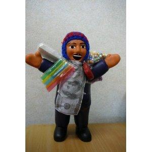 南米ペルー直輸入 本物 開運グッツ 金運アップ 恋愛運アップ エケコ人形【Lサイズ約20センチ】