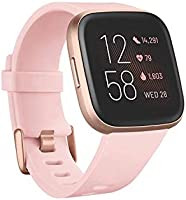 Fitbit Versa 2 Health & Fitness Smartwatch with Heart Rate, Music, Alexa Built-in, Sleep & Swim Tracking, Petal/Copper...