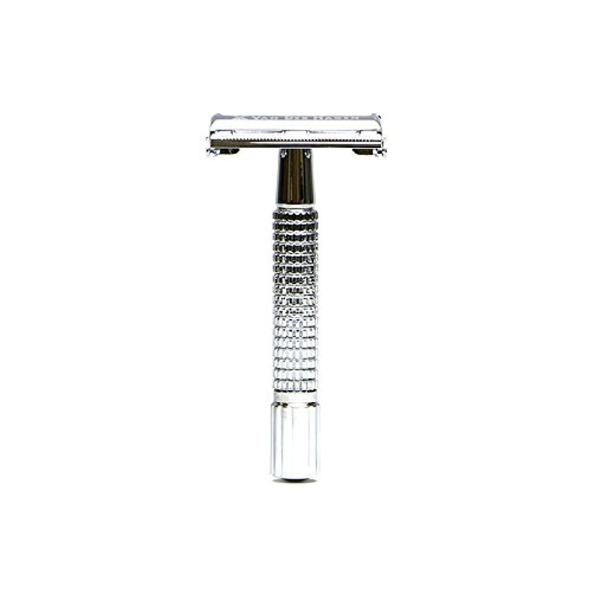 VANDERHAGEN(米) トラディショナル 安全両刃カミソリ ショートタイプ バタフライタイプ 替刃5枚付