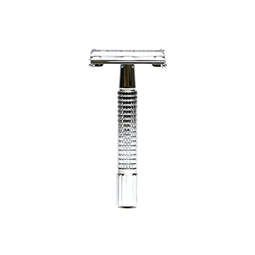 ガラスコードレスのVANDERHAGEN(米) トラディショナル 安全両刃カミソリ ショートタイプ バタフライタイプ 替刃5枚付