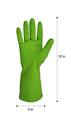 ゴム手袋 Gloves キッチングローブ かわいい 手袋 掃除用・炊事用 3カラー 3双組 (Lサイズ) Cleanbear