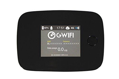 Gwifi 世界対応モバイルWiFiルーター 日本正規代理店品G3000A