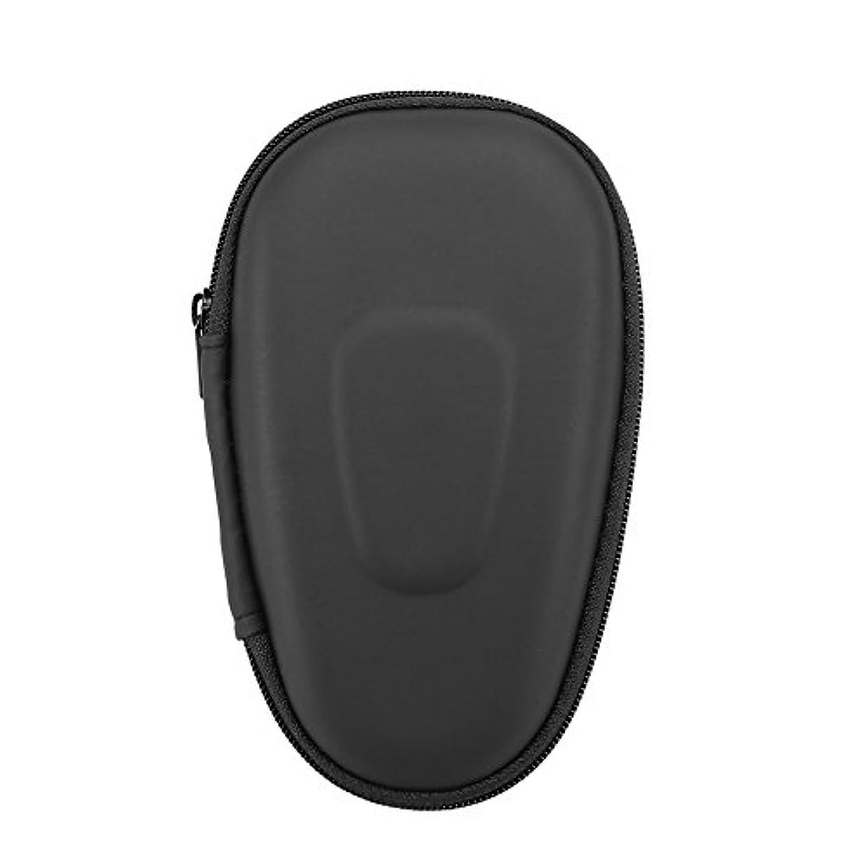 アラスカローマ人専門用語シェーバー収納用ケース、保護用持ち運び用ダブルブレード電動シェーバーハードEVAキャリーバッグ(ブラック)