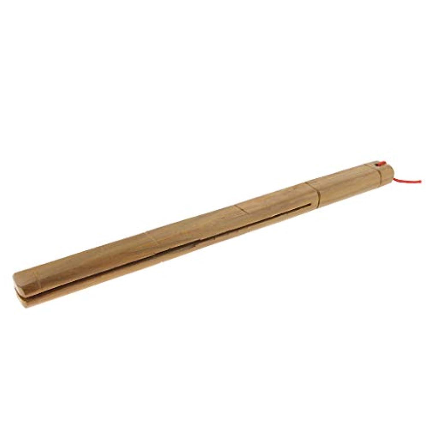 驚かすフラフープ接続された木製マッサージャー ロングハンドル リラックス