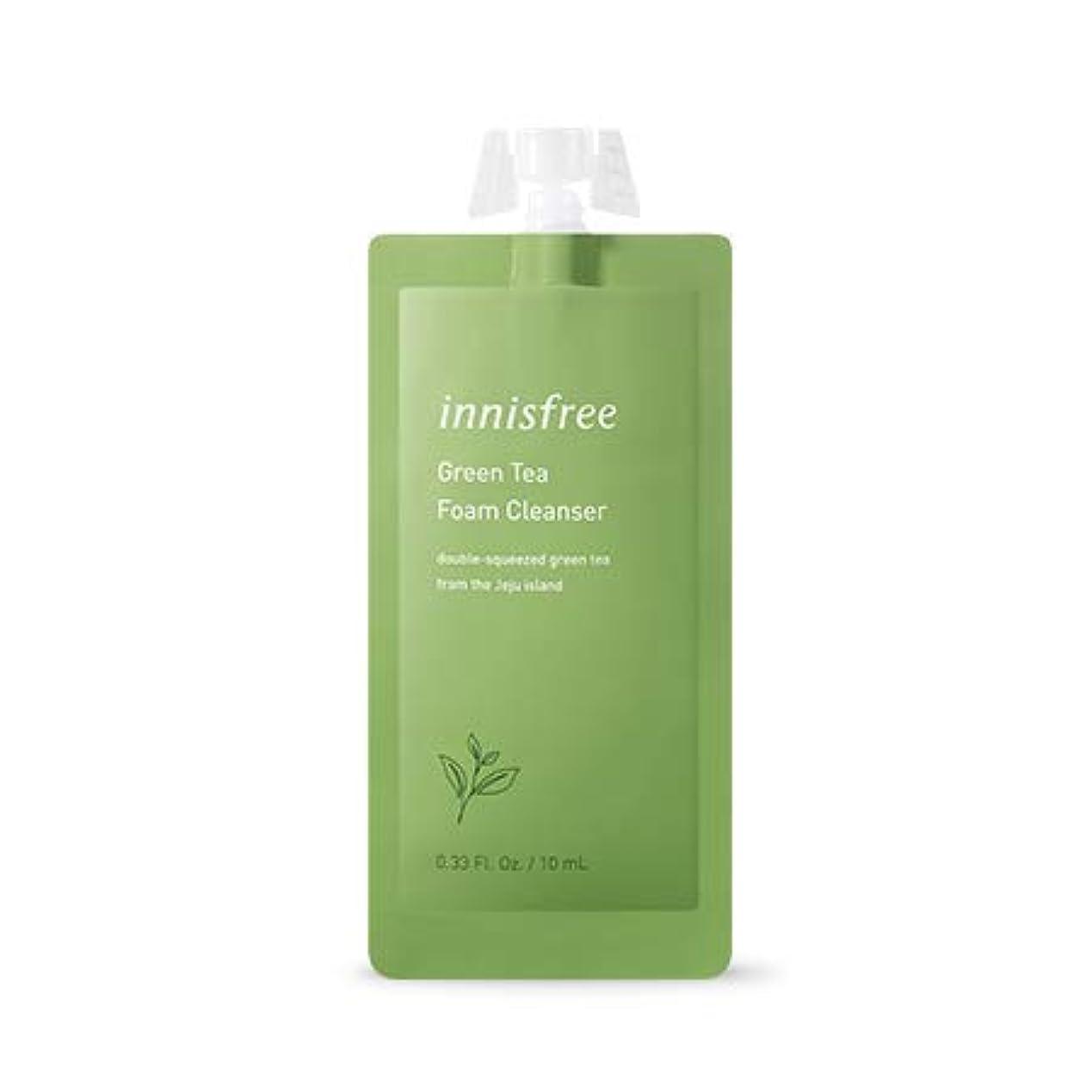 擬人口径純正[イニスフリー.innisfree]グリーンティーフォームクレンザー7DAYS(10mL×5EA)/ Green Tea Foam Cleanser
