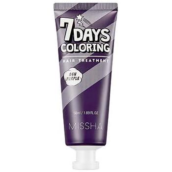 ミシャ セブンデイズカラーリングヘアトリートメント 50ml / MISSHA 7 Days Coloring Hair Treatment # Ash Purple [並行輸入品]