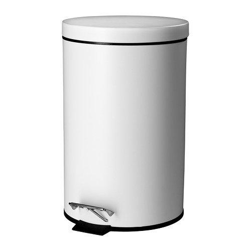RoomClip商品情報 - ペダル式ゴミ箱 ふた付き オシャレゴミ箱 くずかごキッチン ホワイト 白 11.5L