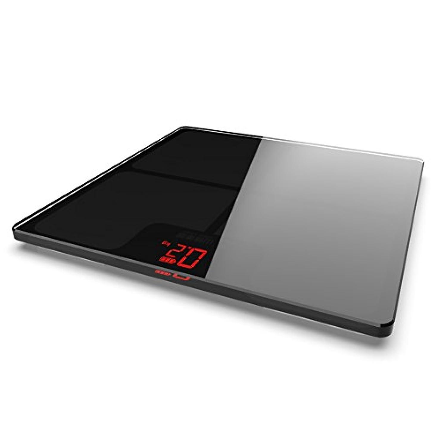 放棄された誇りに思う豊富にSYF 体重計 男性と女性のための電子スケールの家庭用充電スケール大人の精密超薄型ボディスケール重量損失軽量USBスケール(150kg MAX)180 Tage Standby A+