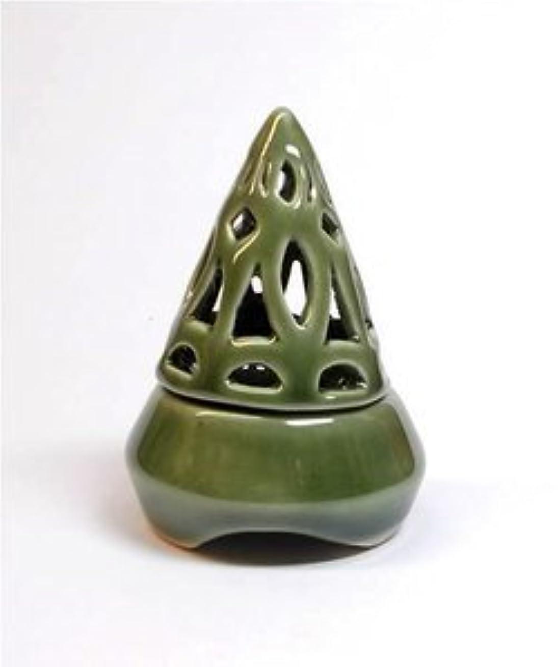 貪欲公使館削除する香炉コーン型 緑 インセンス ホルダー コーン用 お香立て アジアン雑貨