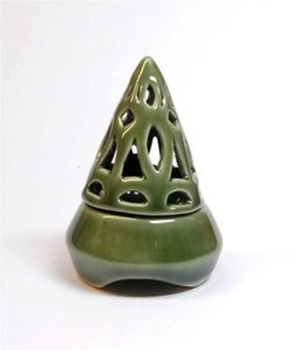 撤退冷蔵するデータ香炉コーン型 緑 インセンス ホルダー コーン用 お香立て アジアン雑貨