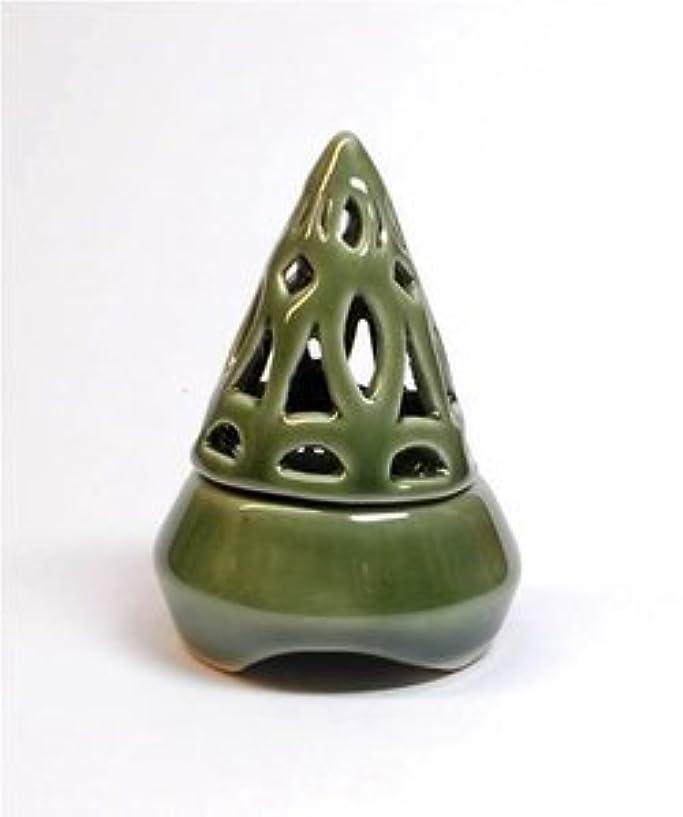 シャーレッドデートかりて香炉コーン型 緑 インセンス ホルダー コーン用 お香立て アジアン雑貨