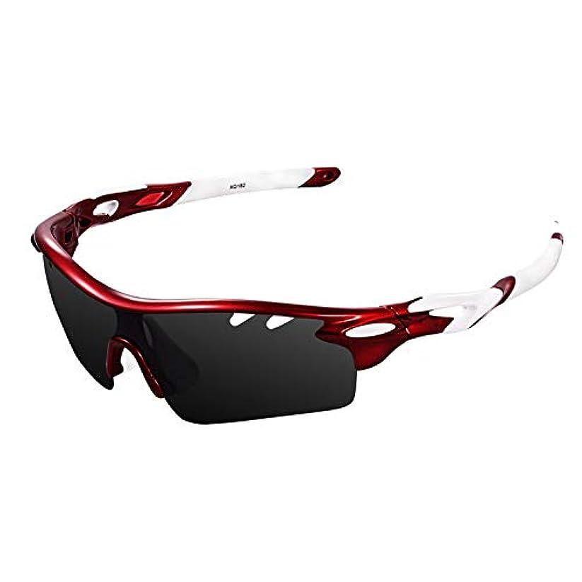 請求書できる評論家Ewin スポーツサングラス 偏光レンズ UV400カット 交換レンズ3枚 軽量 ユニセックス 紫外線防止 登山 ゴルフ 釣り 野球 ランニング レンズ交換可能 偏光サングラスセット