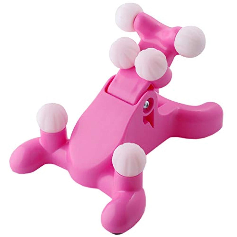 プットにぎやか織るHAMILO 首用マッサージ器 マッサージマシン ツボ押し ストレッチ 首 肩 (ピンク)