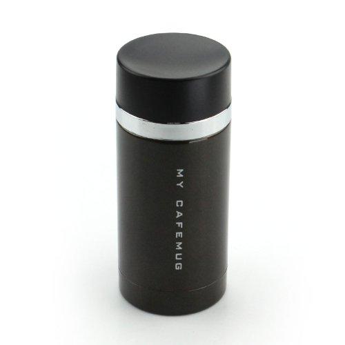 パール金属 水筒 200ml 直飲み ステンレス マグ レザーブラック プレミアムマイカフェスリム ダイレクト H-6928