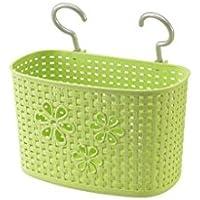 WTL かご?バスケット プラスチックフック収納バスケットシンク吊りバスケット (色 : 緑, サイズ さいず : 33*16.5*20cm)