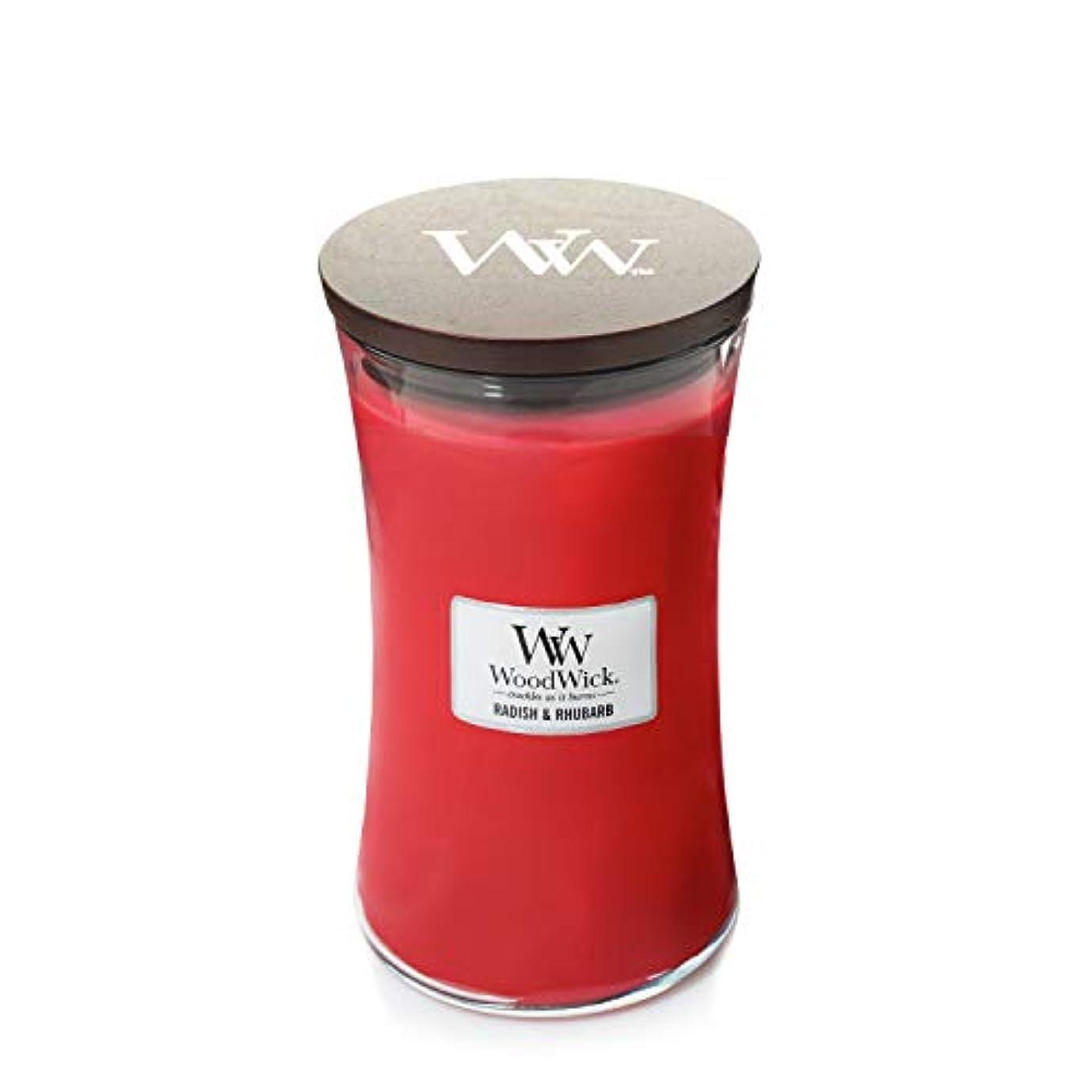お苦しみ不利WoodWick Radish and Rhubarb Large Jar Scented Candle