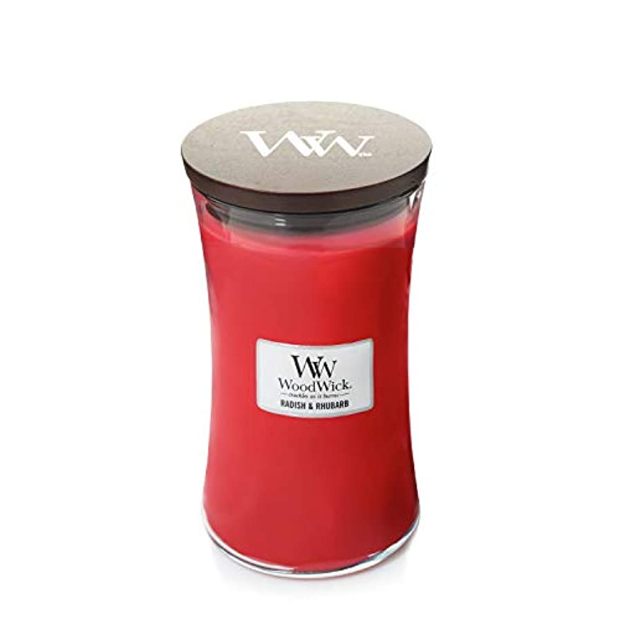 息切れ学期ペニーWoodWick Radish and Rhubarb Large Jar Scented Candle