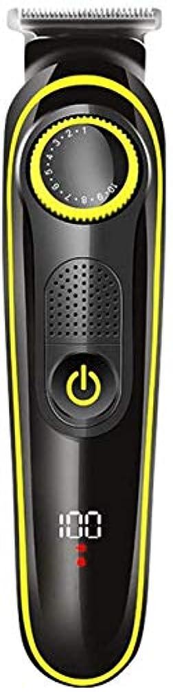 広がり価格チャーターQJYNS USBバリカンコードレスバリカン電気バリカンUSB充電式防水LEDディスプレイ男性用スタイリストと理髪店