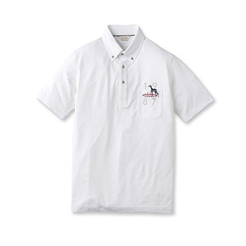 (アダバット) adabat カラットワッフル半袖ポロシャツ 08218630 48(L) ホワイト(001)