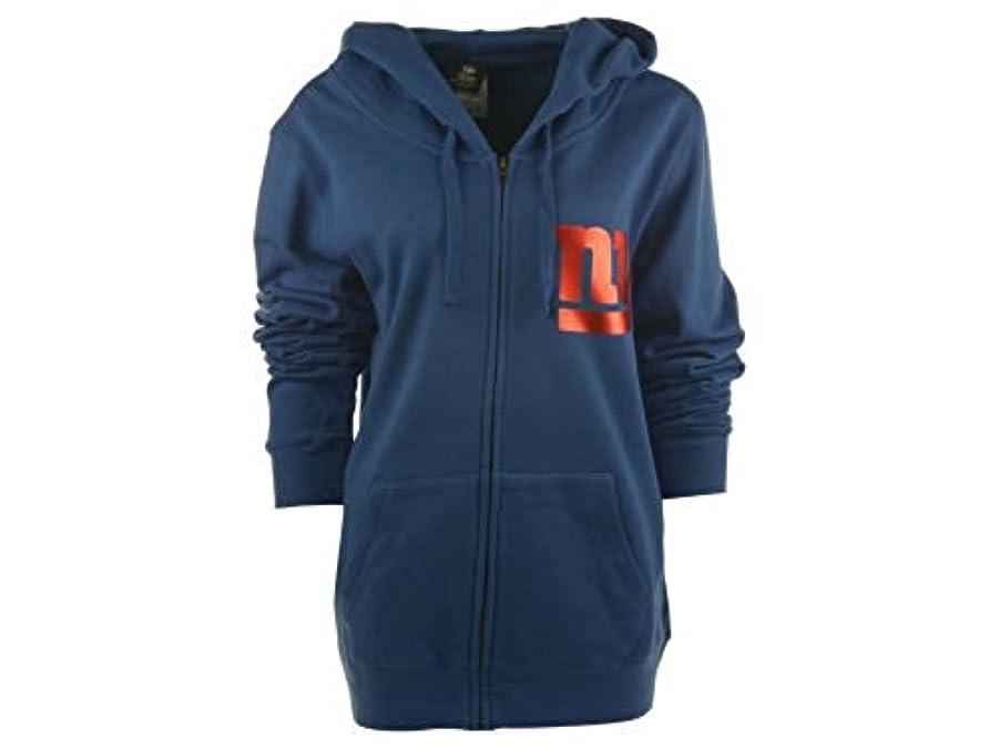 強要皿ゴール新しいYork GiantsレディースサイズLarge Full Zip Hoodieフード付き箔ジャケット/スエットシャツ – ロイヤルブルー