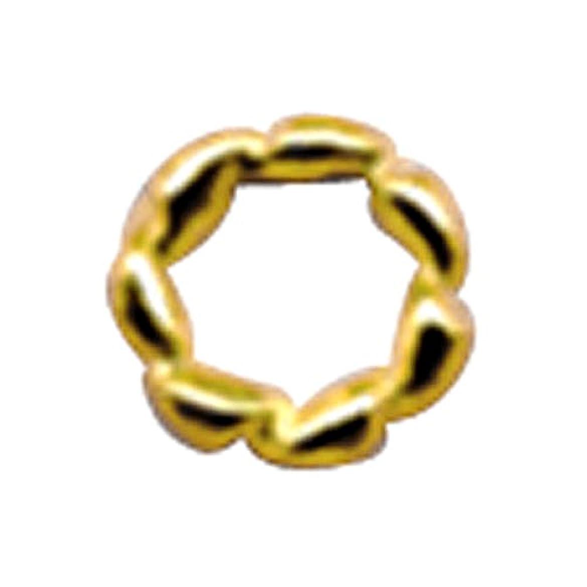 ロマンチック泥だらけ完全に乾くプリティーネイル ネイルアートパーツ ツイストリングM ゴールド 12個