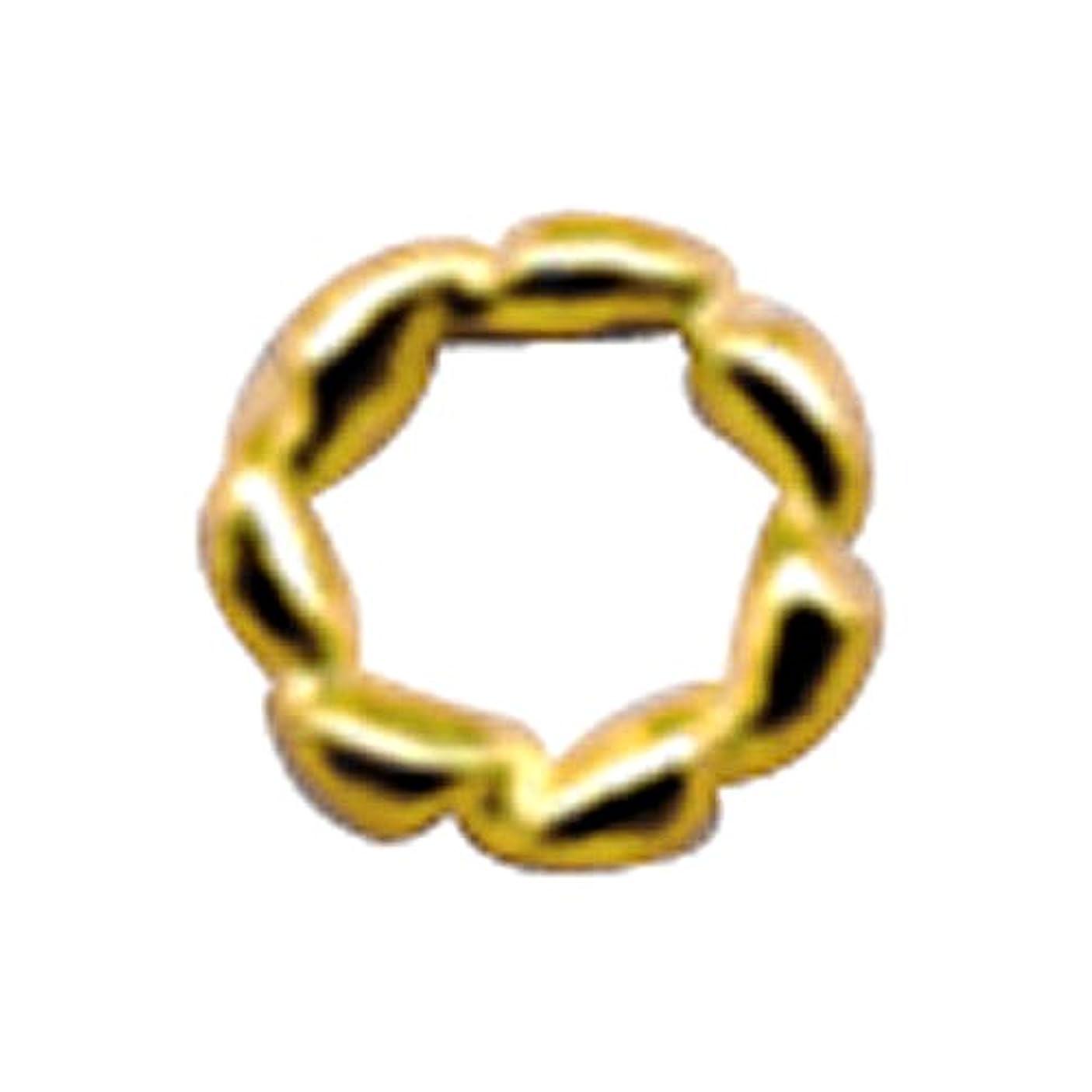 計算する取る確保するプリティーネイル ネイルアートパーツ ツイストリングM ゴールド 12個