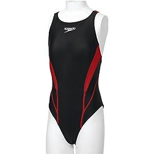 Speedo(スピード) ガールズ 競泳水着 ワンピース フレックスゼロ SD36B07 レッド 150