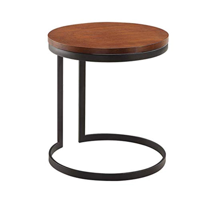 喪損なう貝殻モダンサイドテーブル MDF + アイアンノルディックモダンリビングルームコーナーテーブルスモールラウンドコーヒーテーブル電話テーブル家具