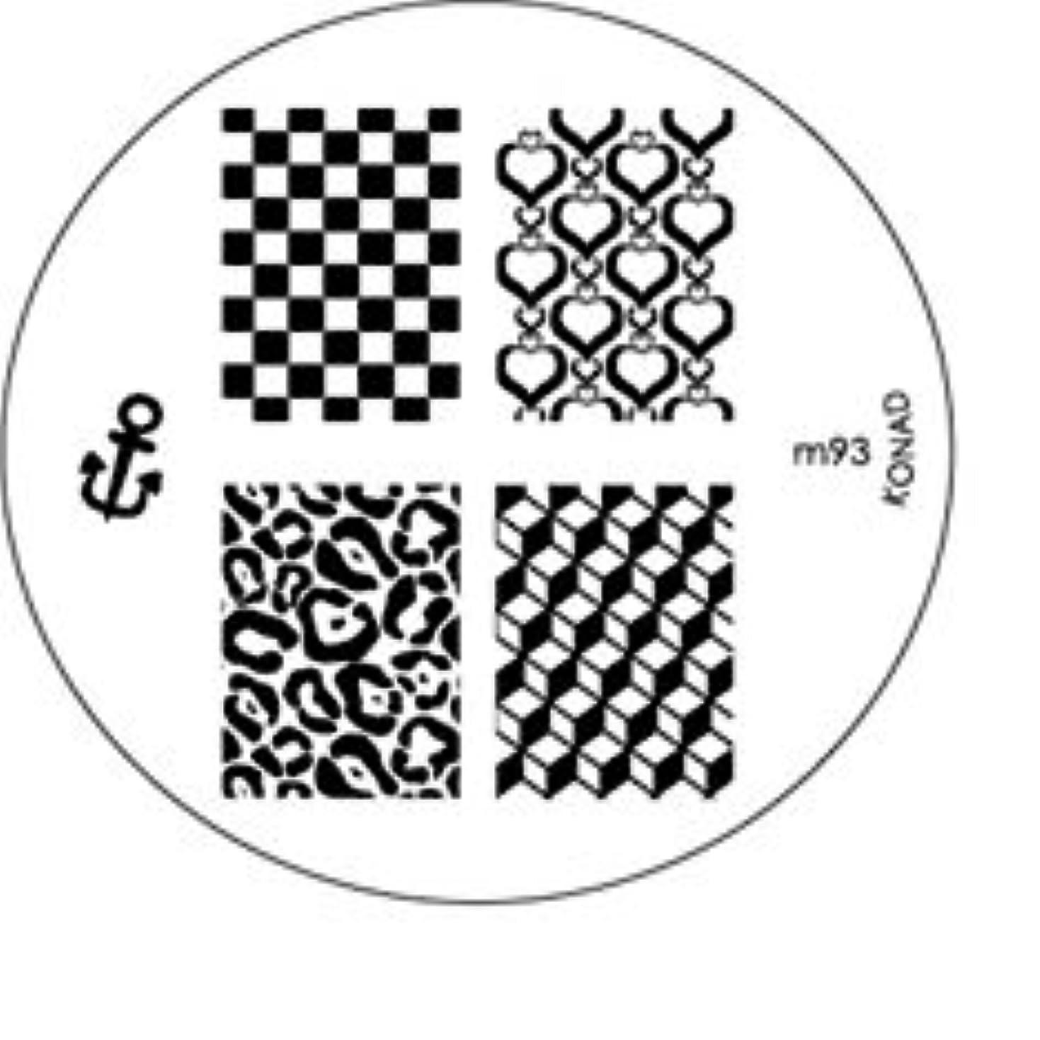プール化合物進化KONAD コナド スタンピングネイルアート専用 イメージプレート m93