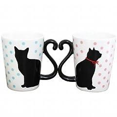 ARTHA マグカップル 黒猫 ドット AR0604038