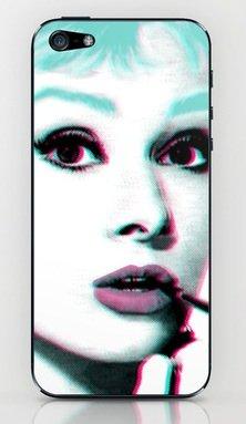並行輸入品オードリー・ヘップバーン society6 iphone 6/6plusステッカー (iphone 6plus, Audrey3)