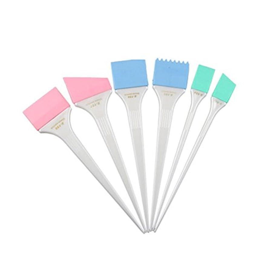 WINOMO ハイライトコーム ヘアダイブラシ 染色コーム ヘアカラーブラシツール サロン 染色 ヘアカラー シリコーン ヘアミキシングセット 6個セット(ホワイト)