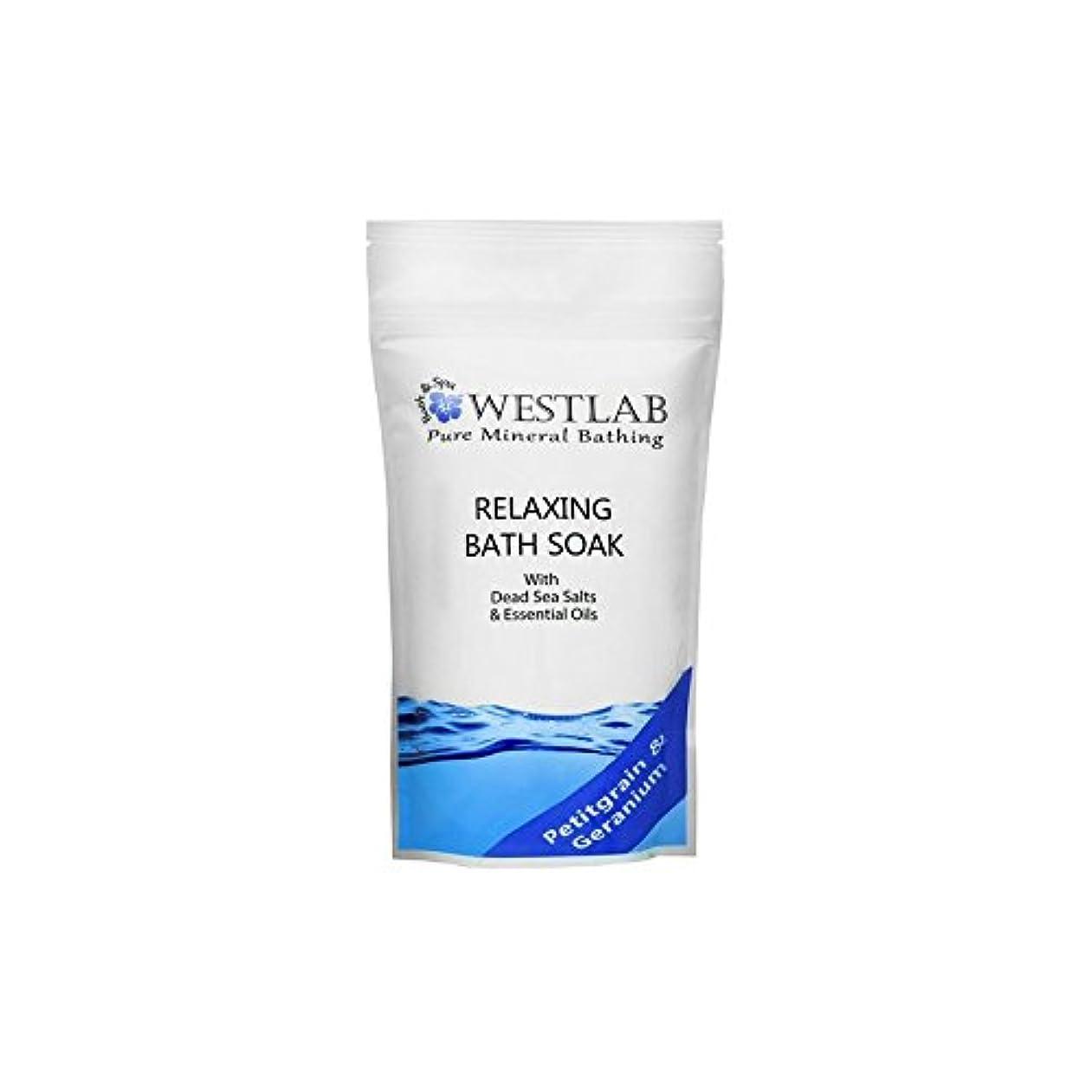 未亡人成人期ボット死海の塩浴浸漬(500グラム)をリラックス x2 - Westlab Relax Dead Sea Salt Bath Soak (500g) (Pack of 2) [並行輸入品]